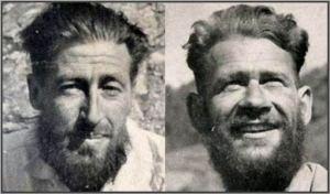 Echipa victorioasa dupa prima ascensiune a varfului hotse in 18.05.1956 - Ernst Reiss si Fritz  Luchsinger